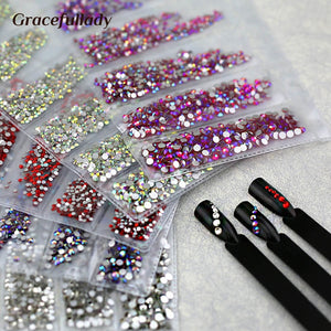 Multi-size Glass Nail Rhinestones For Nails Art Decorations Crystals