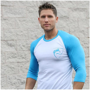 Men Quarter Sleeve T-shirts Cotton Gyms Fitness Workout Clothing