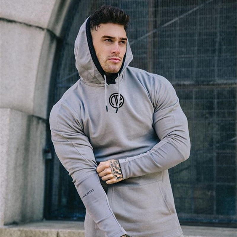 Men Running Gym Sport wear Tracksuit Fitness Body building