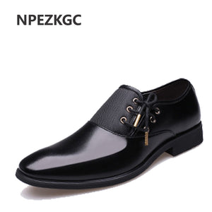 Genuine Leather Men Casual Shoes Luxury Brand Men Shoes Leather