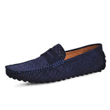 Leather Men Shoes Nubuck Leather Men Loafers Fashion Plus Size