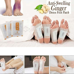 Ginger Herbal Adhesive Pads Anti-Swelling Ginger Detox Foot Patch