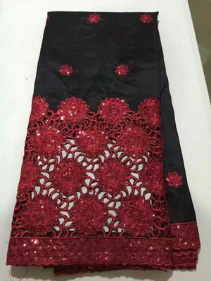 Nigerian Georges Lace Fabric For Wedding Wrappers Material