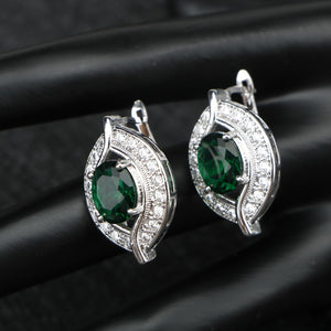 Zirconia Silver Jewelry Sets For Women Earrings/Pendant/Necklace/Rings