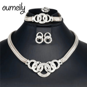 African Jewelry Set Dubai Gold Silver Jewelry Sets For Women