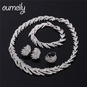 Wedding Jewelry Set For Women African Dubai Silver Gold