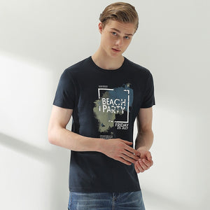 New style T-shirt men brand clothing fashion pattern T shirt male top