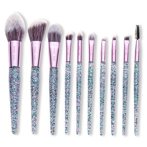 Purple Makeup Brushes Foundation Powder Blending Brush