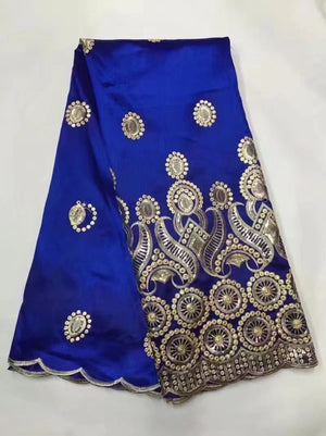Royal Blue Indian George Hot Sale African George Lace Fabric