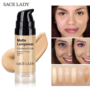 Face Foundation Cream Base Makeup Professional Matte Finish Make Up