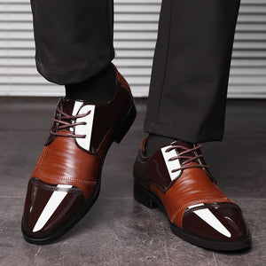 Spring Autumn Men Dress Shoes Oxford Lace Up Business Formal Shoes