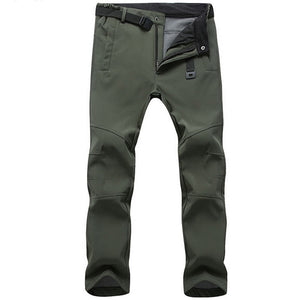Stretch Waterproof Pants Men Casual Winter Thick Warm Tactical Pants