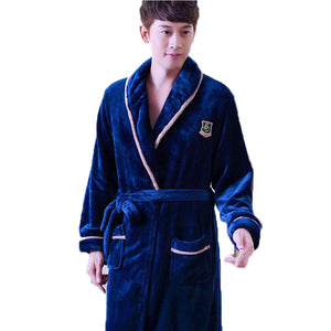 Winter Warm Bath Robe Male Nightgown Nighties Casual Clothing