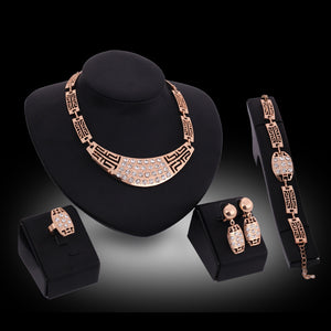 Bridal Jewelry sets for woman Necklace Earrings Ring Bracelet