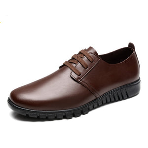 Summer Genuine Leather Men Shoes Casual Breathable Shoes