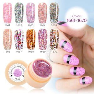 Pure Color Varnish Nail Art Salon Soak Off UV LED Nail Art Design