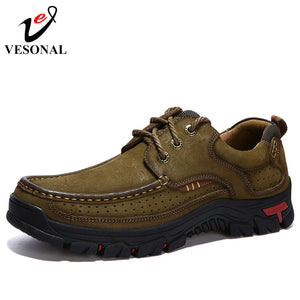 Genuine Leather Walking Casual Male Shoes For Men Sneakers