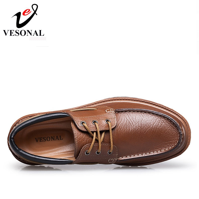 Men Casual Shoes Luxury Brand Male Adult Genuine Leather Shoes