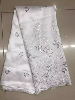 Nigeria Georges For Wedding Indian George with Sequins Lace Fabric