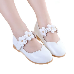 Toddler Flower Girls Wedding Party Leather Shoes