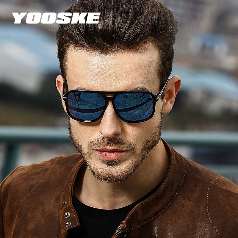 bac17c9f9ae4 ... Polarized Sunglasses Men Driving Brand Design Man Mirror Retro Goggles