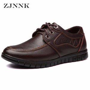 Men Flats Genuine Leather Shoes Black Brown Handmade Leather Shoes