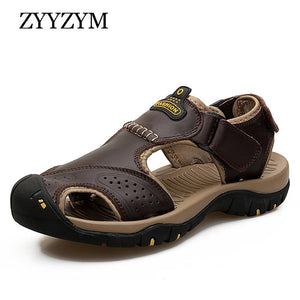 Men Sandals Summer Genuine Leather Casual Shoes Sandals Sport