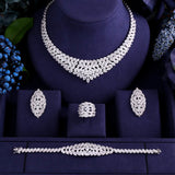 Cubic Zirconia Jewelry Sets For Women Party Wedding Jewelry Sets