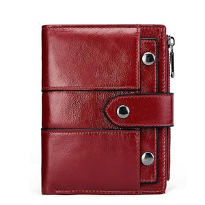 Short Women's Wallet Genuine Leather