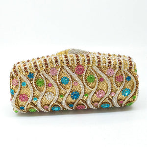 Hollow Out Crystal Women Clutches