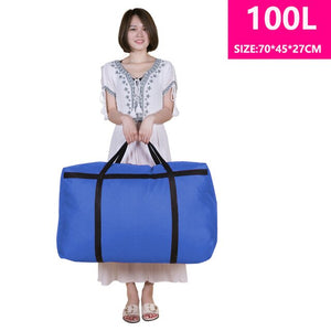 Large-capacity canvas moving house luggage
