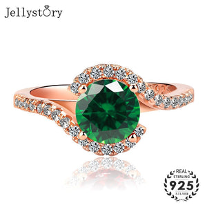 Jellystory Classic Ring for Women with 7*7mm Round shaped