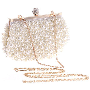 Evening Wedding Clutch Handbag Pearl Bag