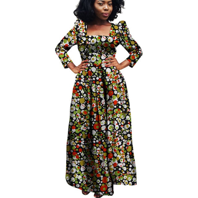 African Bazin Riche Dashiki Fabric Dresses Africa Wax Print Fashion Style Plus Size Clothing for Women
