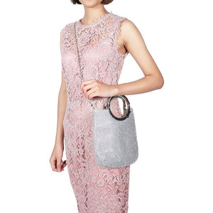 Women's Handbag Rhinestone + satin Bag