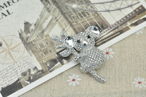 Full Rhinestone Cute Koalas Animal Brooches for Women