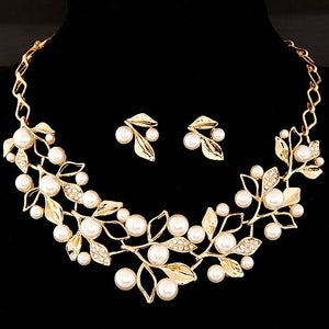 Bridal Simulated Pearl Jewelry Sets for Women's