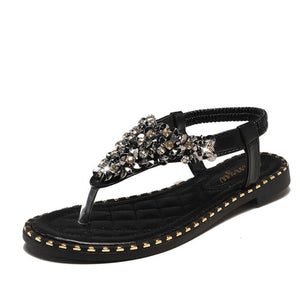 Sexy Rhinestone Ladies Sandals Woman Pinch Bling Women Sandals New Summer Shoes