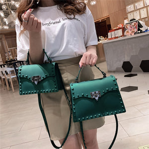 High Quality Women PVC Handbags Fashion Ladies Shoulder Bag