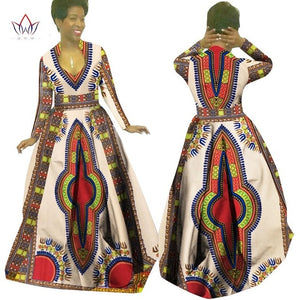 Full Sleeve African Maxi Dress Dashiki