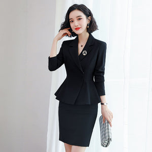 Elegant Ladies Fashion Blazer Suit