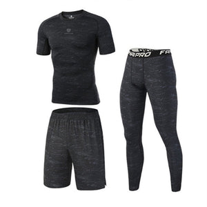 High Quality Compression Men's Sport Suits Quick Dry