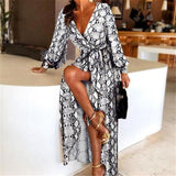 Sexy Vintage Dress Women Paisley Print Spring Loose Streetwear Long Sleeve Party Club African Robe Sundress