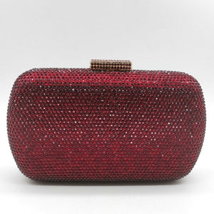 Wine Red Women Crystal Evening Bags
