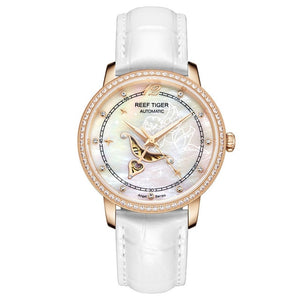 Fashion Womens Watches Blue Dial Rose Gold Watches