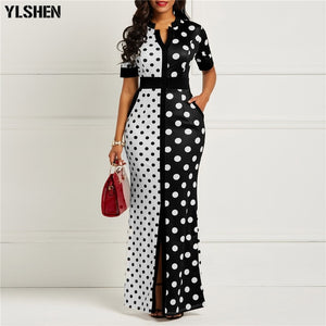 African Dresses for Women Dashiki Polka Dot