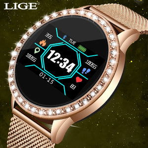 Fashion smart watch women men Sport waterproof clock