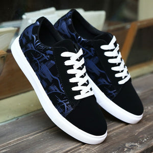 Printed Lace Up Canvas Shoes