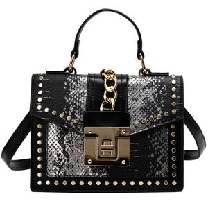 Design Handbags High Quality Ladies Shoulder Women PU Leather Zip Lock Small Chains  Flap Bags