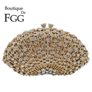 Night Queen Women Peacock Evening Bags